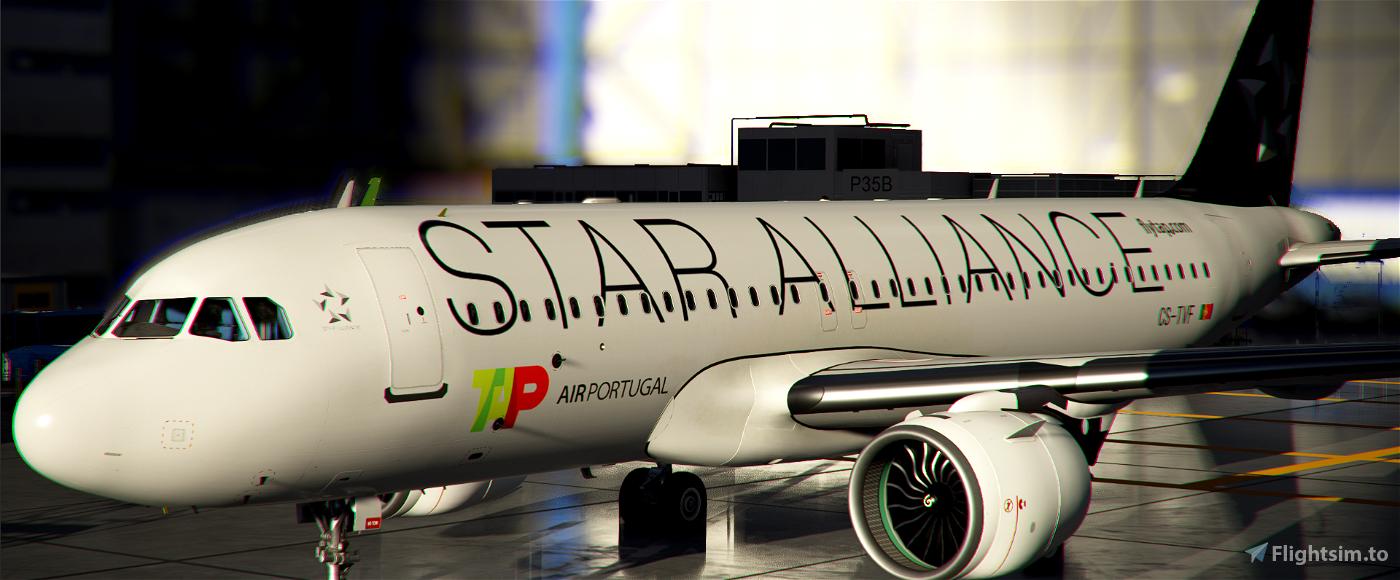 [A32NX] | [8K] A320neo TAP Air Portugal Star Alliance (CS-TVF) Very Detailed Clean/Dirty Version