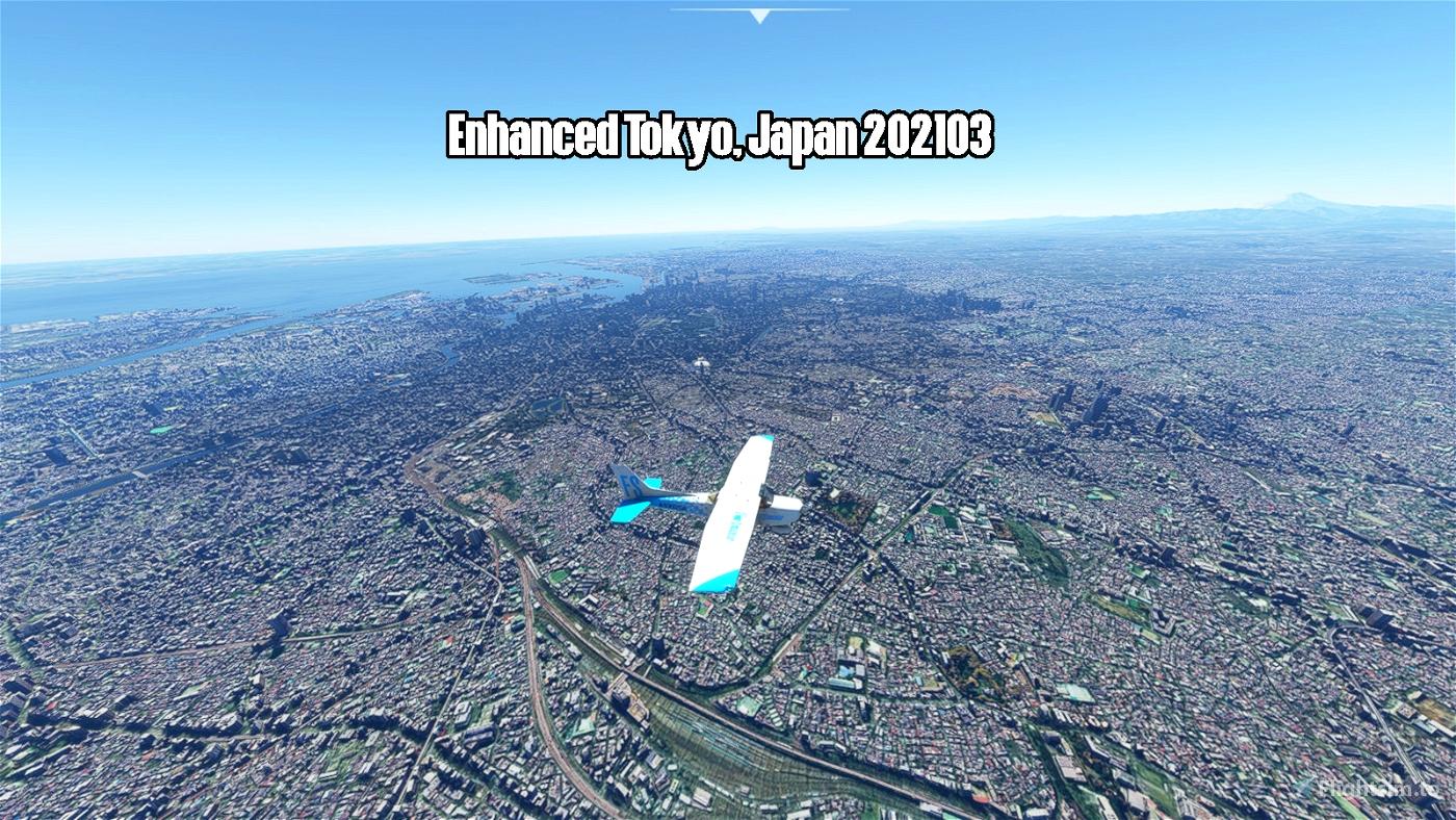 Enhanced Tokyo, Japan 202103 Microsoft Flight Simulator