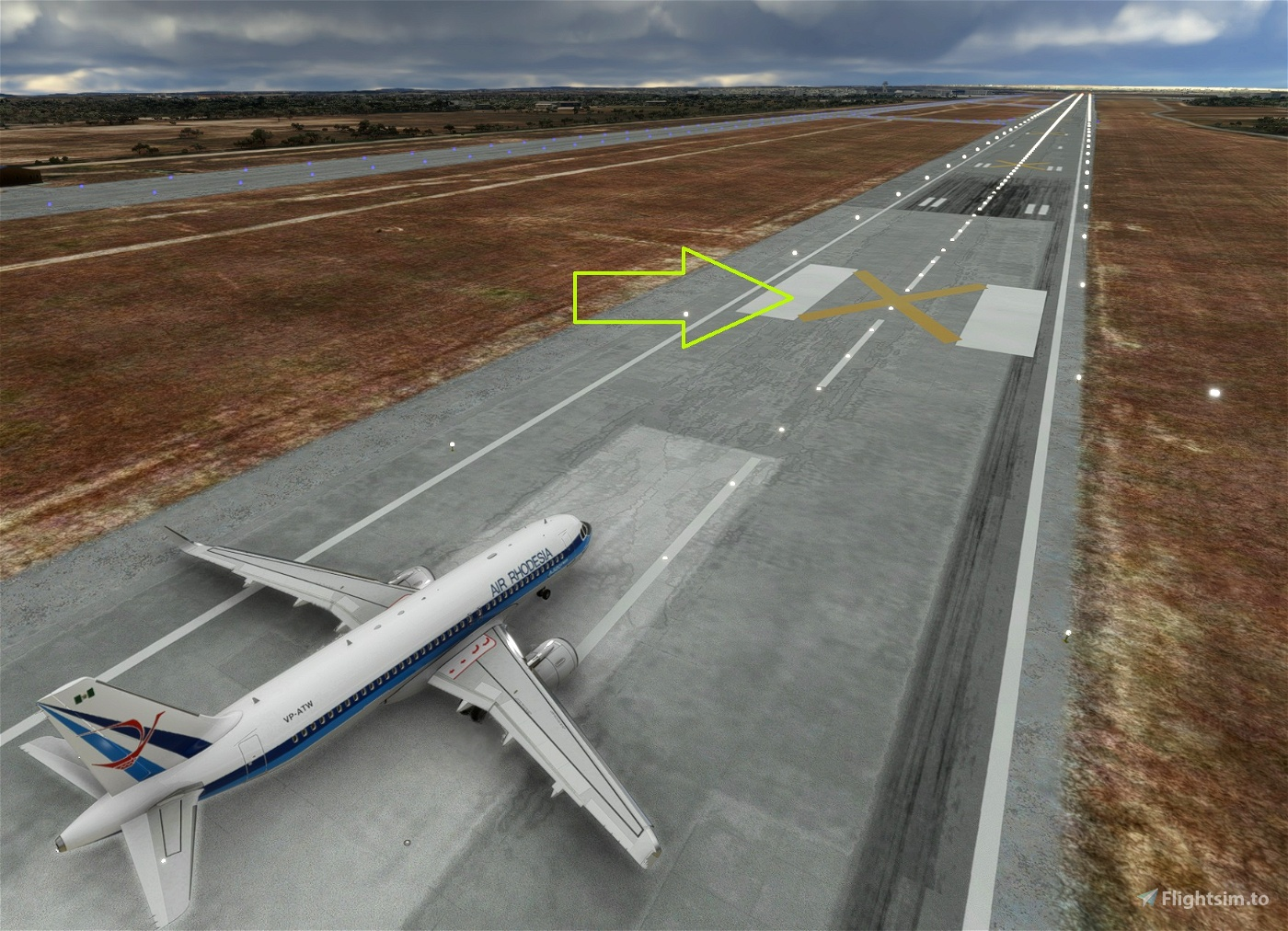 Simple fix to re-open all closed runways if needed at default airports. (removes yellow crosses) Microsoft Flight Simulator