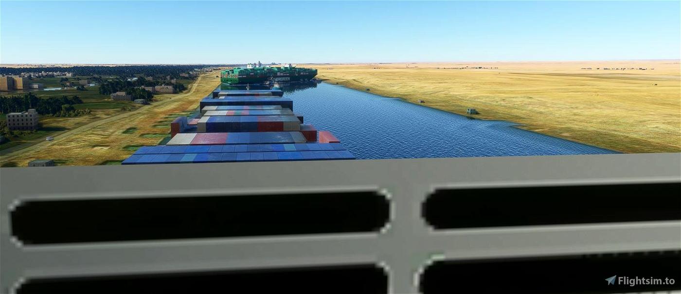 Ever Given - Suez Traffic Jam