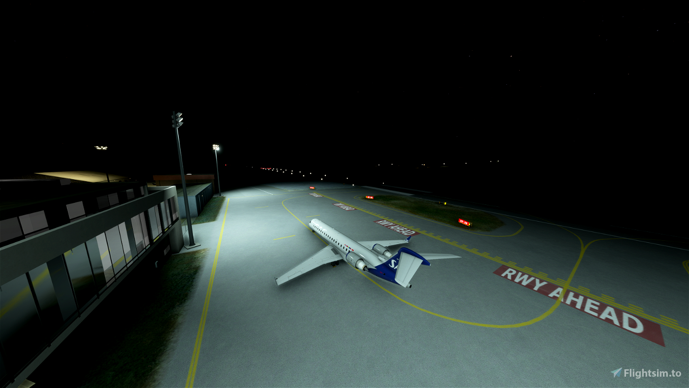 ENBL, Førde airport, Bringeland + DEM 1m mesh