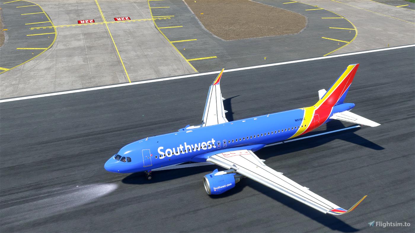 Southwest A32NX (N9101Z) Microsoft Flight Simulator
