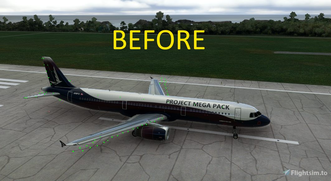 PMP A321 Flight model improvement mod