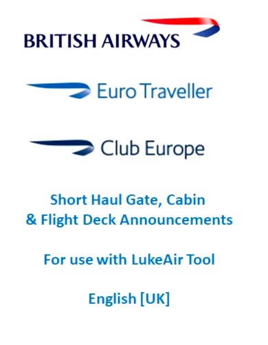 LukeAir Tool - Announcements - [British Airways] Eurotraveller Flight Simulator 2020
