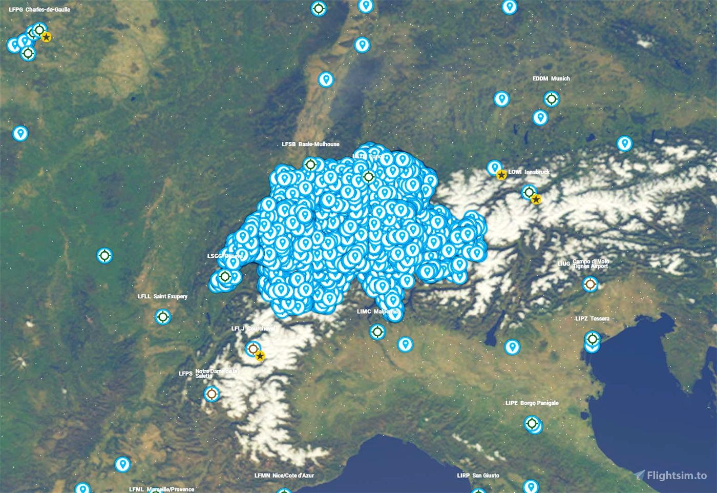 Points d'intérêt - Suisse JUVXOFBm