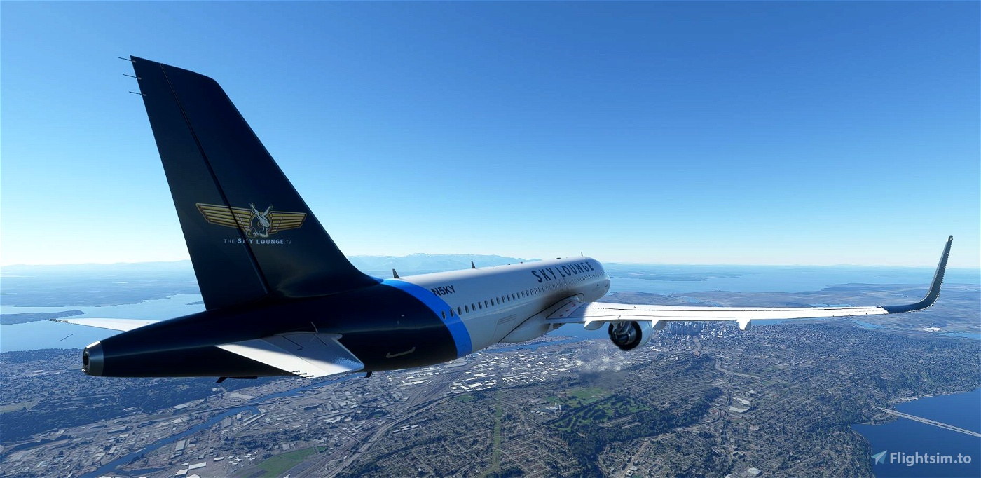 Airbus A320 Neo - The Sky Lounge Livery