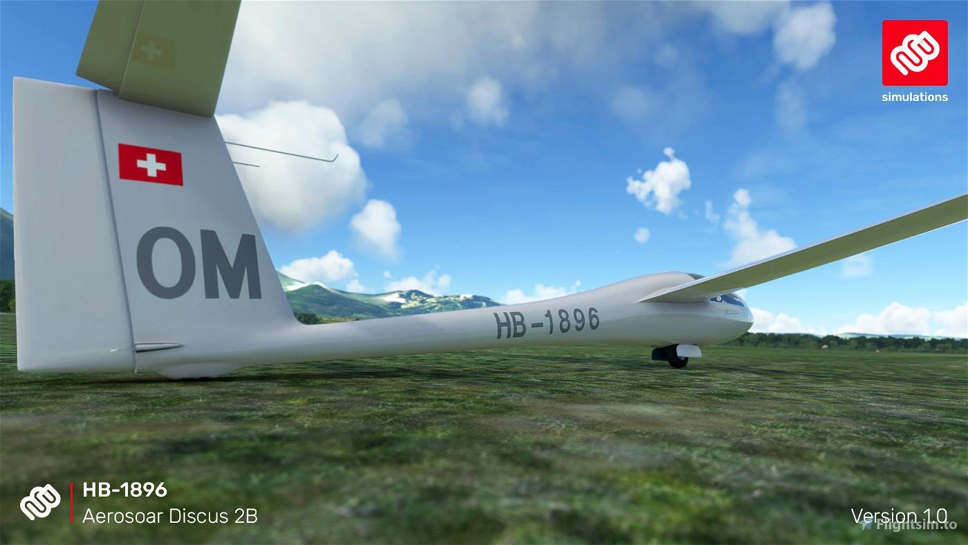 Aerosoar Discus 2B HB-1896 Segelfluggruppe Thun