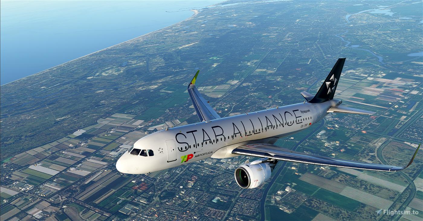 [A32NX] | [8K] A320neo TAP Air Portugal Star Alliance (CS-TVF) Very Detailed Clean/Dirty Version Flight Simulator 2020