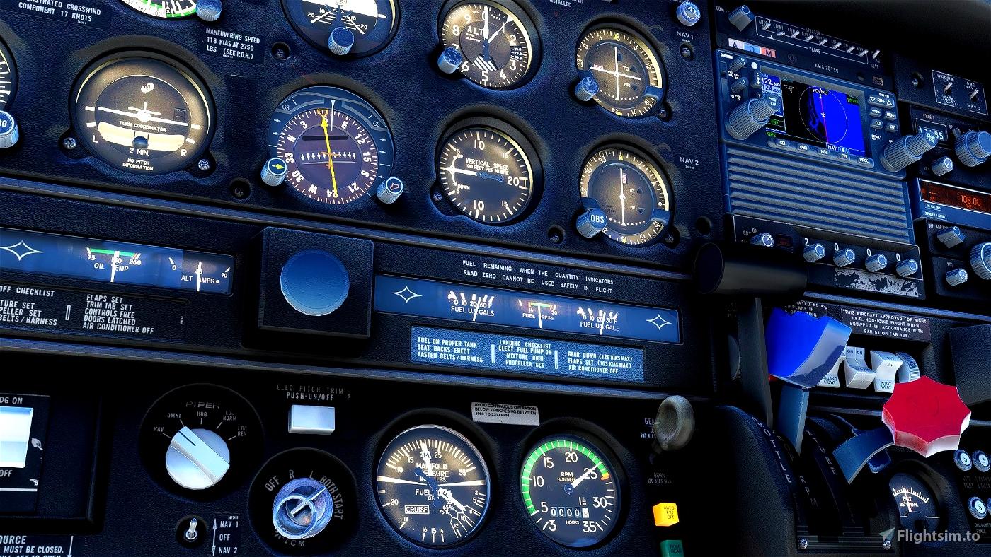 JustFlight PA28R Arrow III - Little NavMap Performance Profile