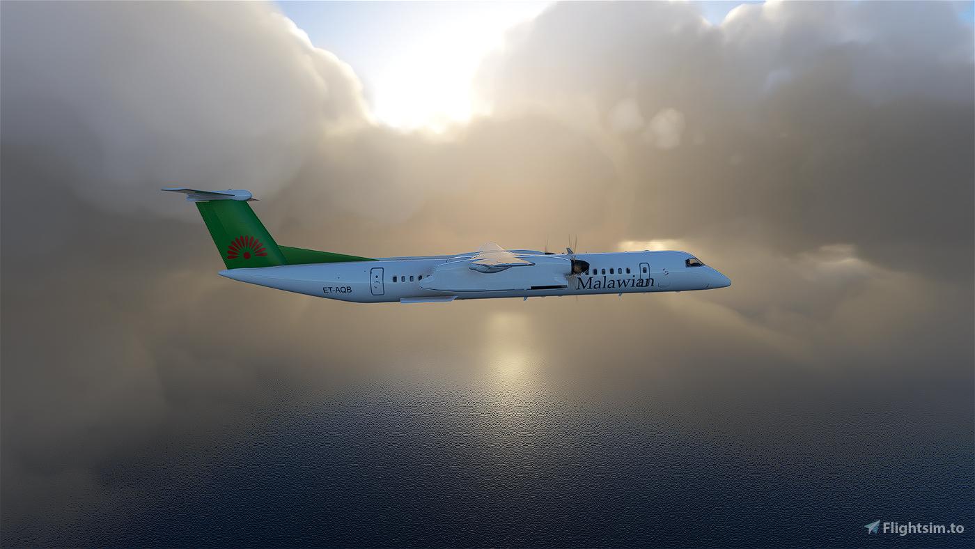 Malawian Airlines Dash8 Q400 | 4K