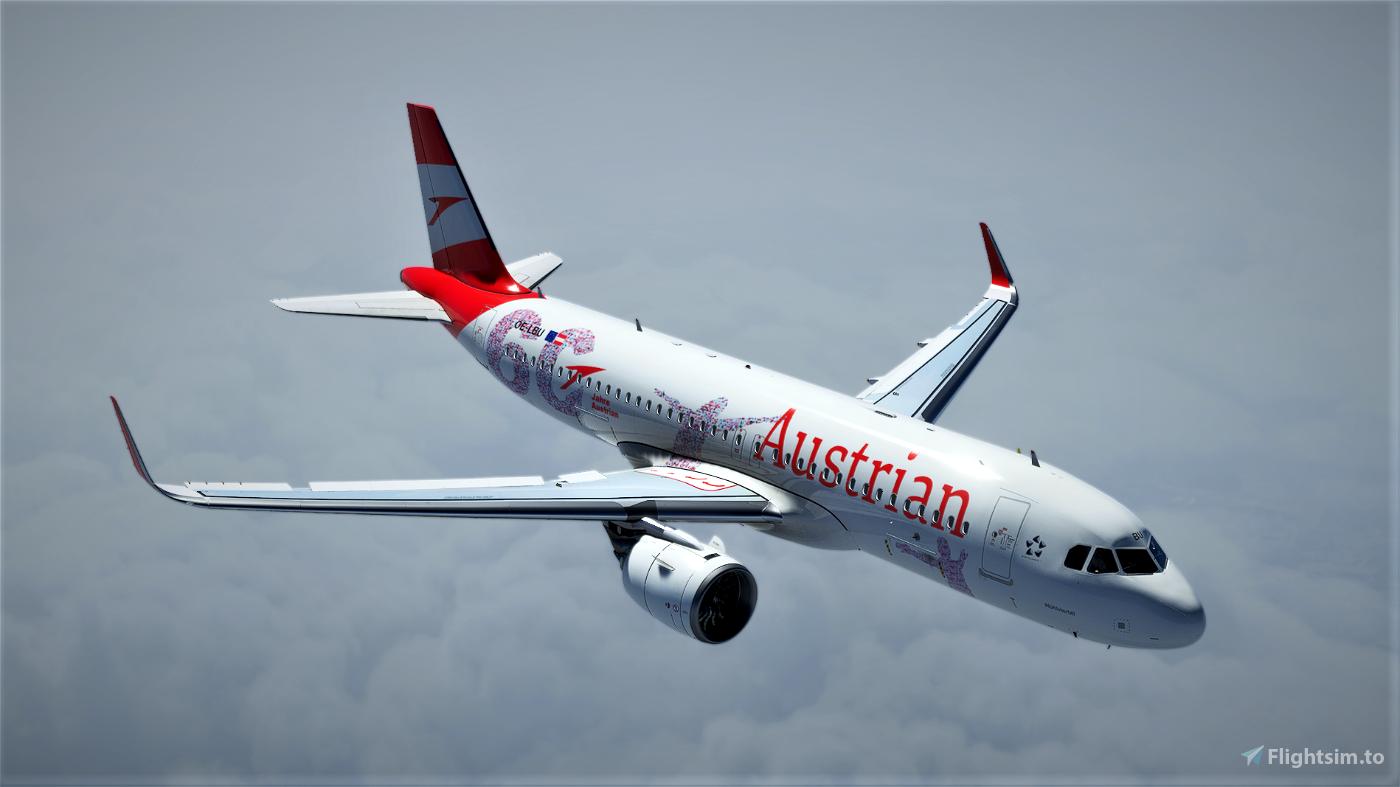 [A32NX] Austrian Airlines 60 Years Anniversary(AUA) OE-LBU [8K-UHD] 2021 Microsoft Flight Simulator
