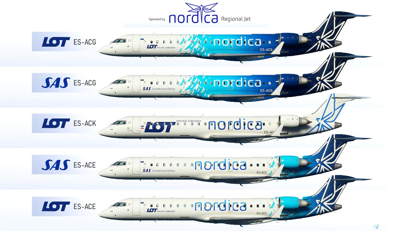CRJ 700 - Nordica Pack, SAS + LOT (5 liveries!) [8K] Ultra Quality