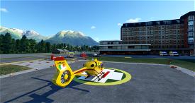 Elisuperficie Ospedale di Belluno Image Flight Simulator 2020
