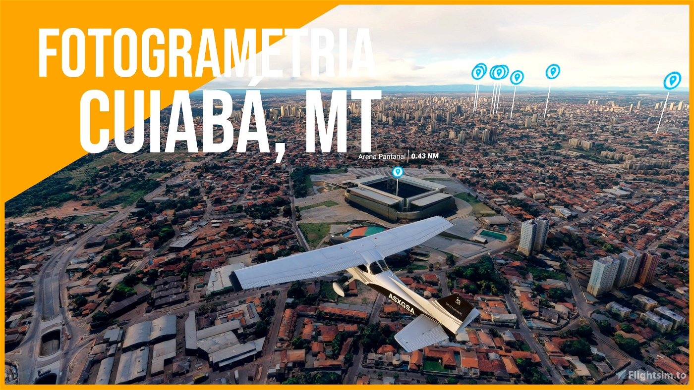CUIABÁ, MT PHOTOGRAMMETRY Microsoft Flight Simulator