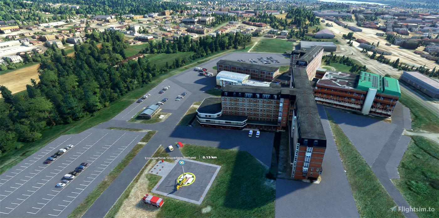 Elisuperficie Ospedale di Belluno