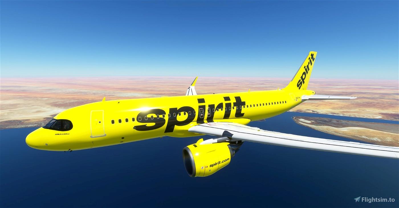 [A32NX] 8K Spirit Airlines Flight Simulator 2020