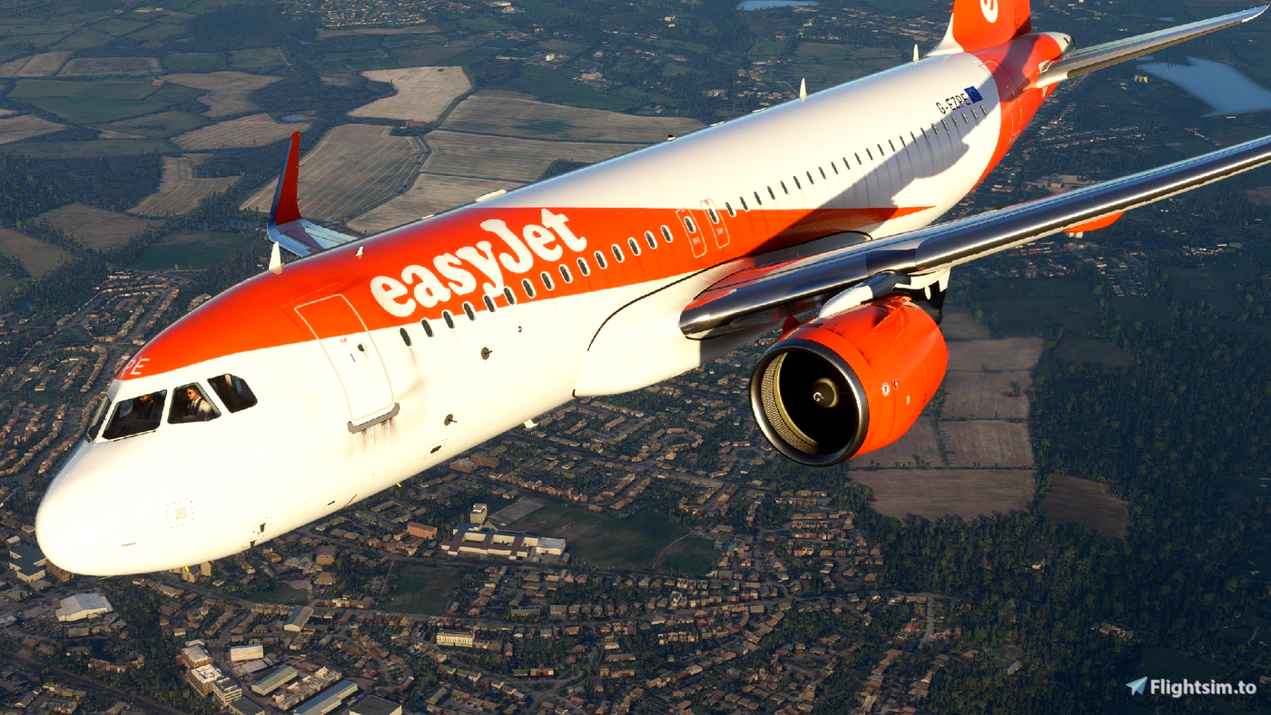 EasyJet A320Neo (Dirty) [8K] - FBW A32NX Flight Simulator 2020