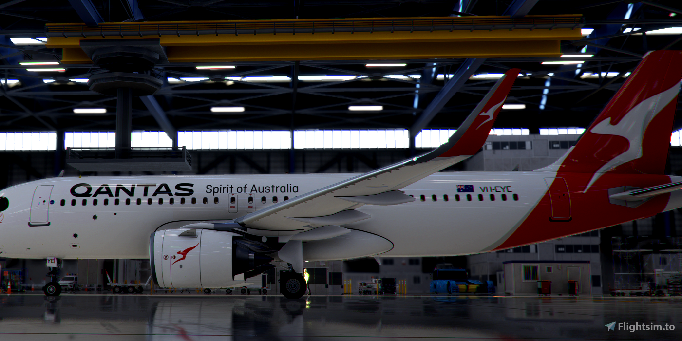 [A32NX] FlyByWire   Airbus A320neo Qantas Airways VH-EYE in 8k