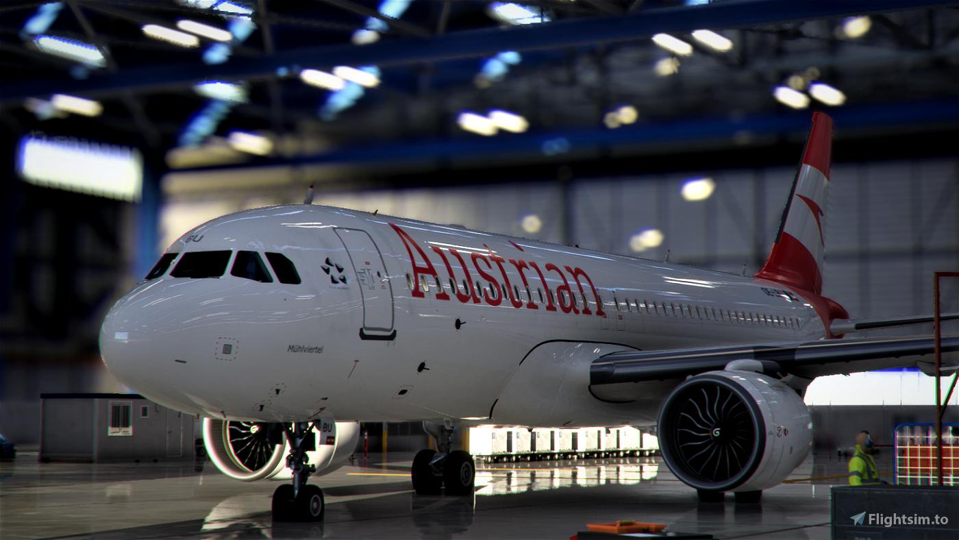[A32NX] Austrian Airlines (AUA) OE-LBU [8K-Ultra Details] 2021 Dirty/Clean