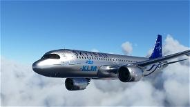 [A32NX] FlyByWireA320neo KLM Skyteam silver livery 8K Image Flight Simulator 2020