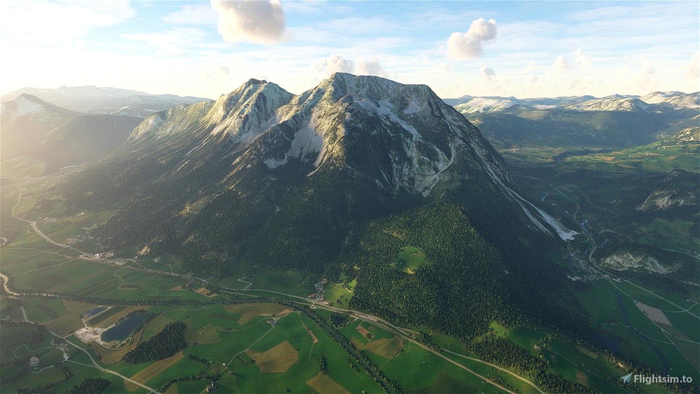 Better Aerial for Grimming near LOGO Niederöblarn, Styria, Austria