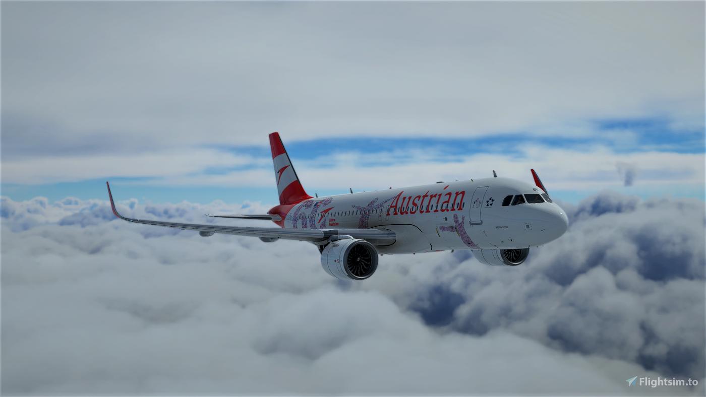 [A32NX] Austrian Airlines 60 Years Anniversary(AUA) OE-LBU [8K-UHD] 2021