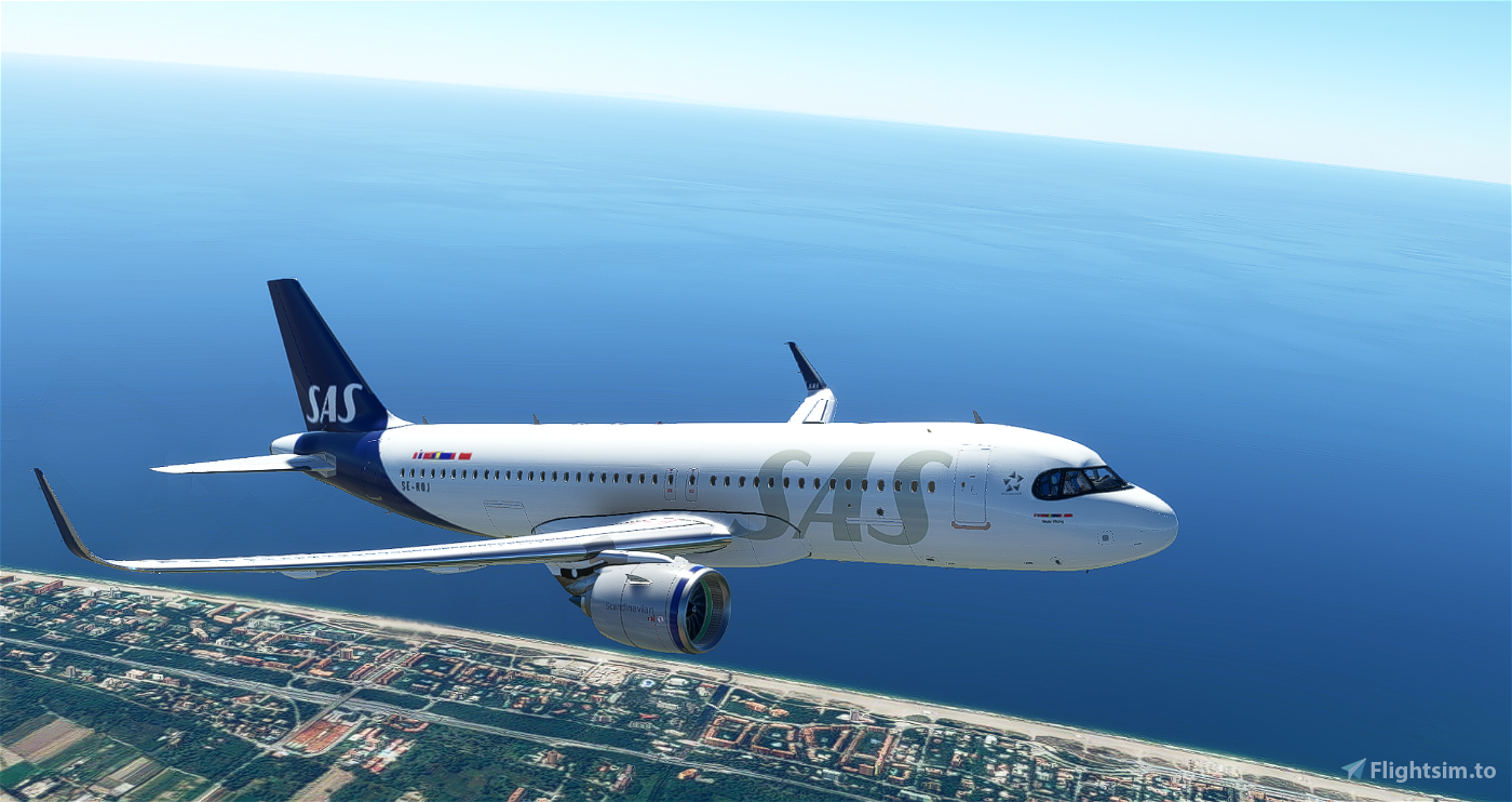 [A32NX] | [8K] SAS Scandinavian Airlines New Livery (SE-ROJ) Very Detailed Clean/Dirty Version Microsoft Flight Simulator