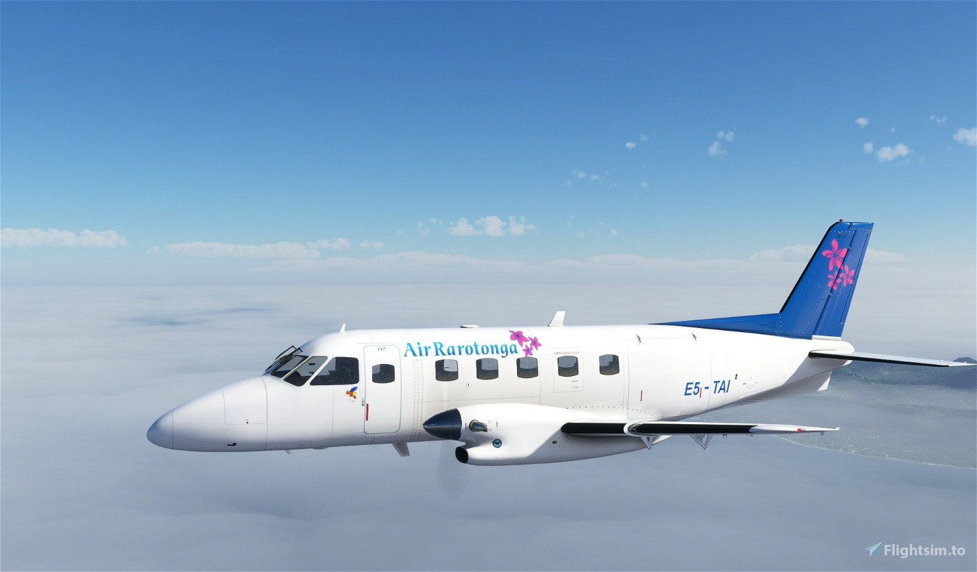 EMB-110P1 Air Rarotonga E5-TAI Microsoft Flight Simulator