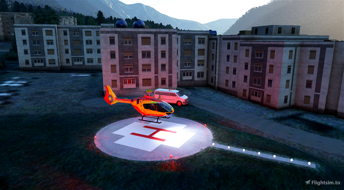 Helipad - Chamonix hospital