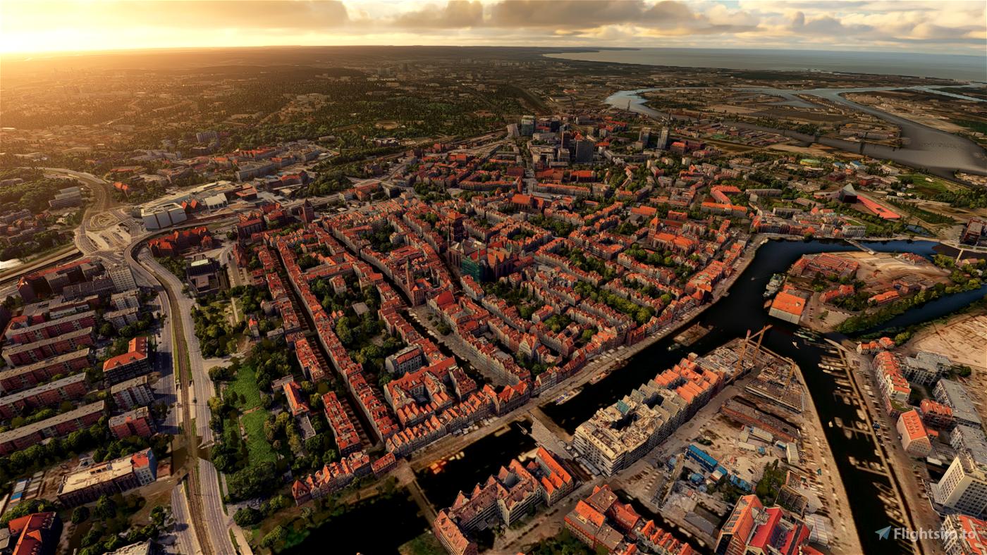 EPGD Gdansk Old Town (best performance) Microsoft Flight Simulator