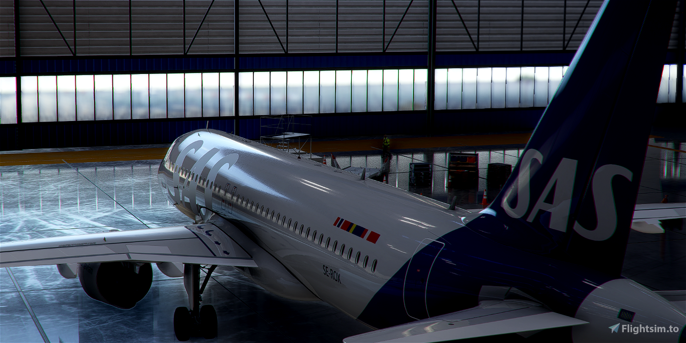 [A32NX] FlyByWire | Airbus A320neo SAS Airlines SE-ROX in 8k