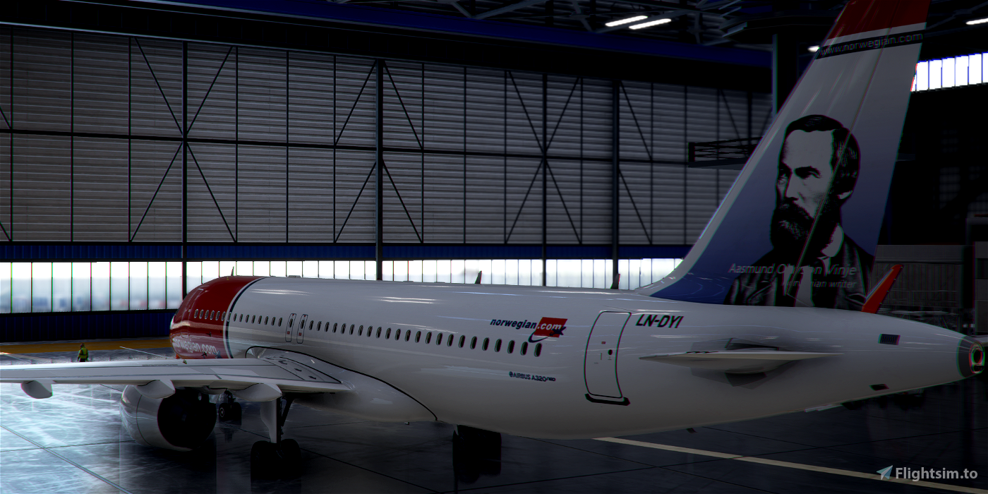 [A32NX] FlyByWire | Airbus A320neo Norwegian LN-DYI in 8k