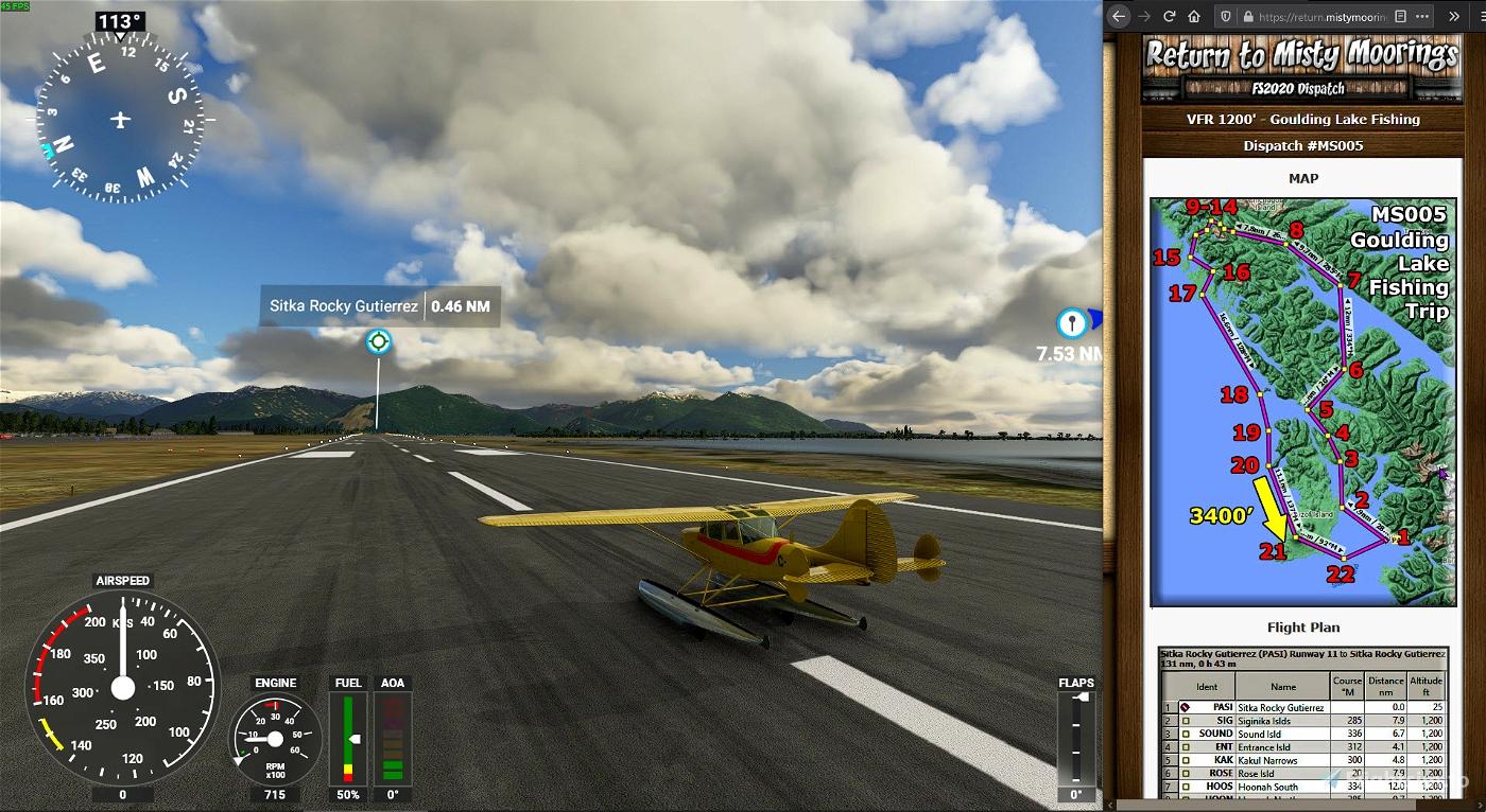 RTMM Dispatch MS005 - Goulding Lake Fishing Trip Microsoft Flight Simulator