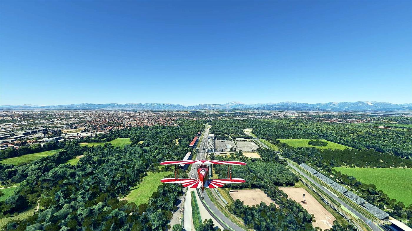 Arcore and Monza racetrack Microsoft Flight Simulator