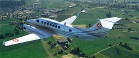Asobo_KingAir350 Swiss Air Force T-721 White Image Flight Simulator 2020