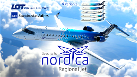 CRJ 700 - Nordica Pack, SAS + LOT (5 liveries!) [8K] Ultra Quality Microsoft Flight Simulator