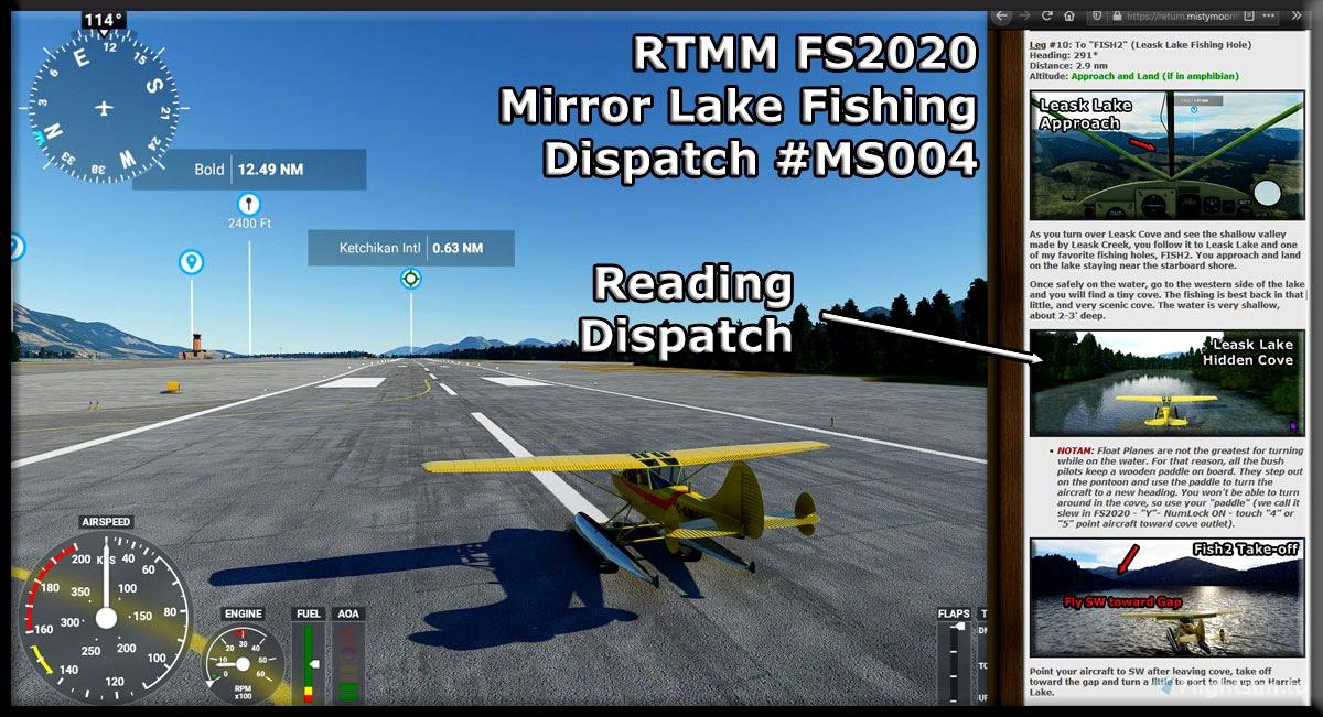 RTMM Dispatch MS004 - Mirror Lake Fishing Microsoft Flight Simulator