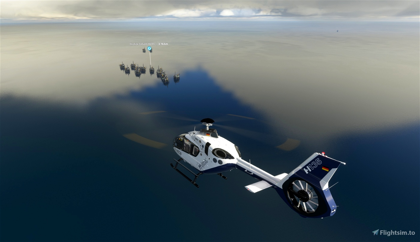 North Europe oil/gas offshore installations - Landable! Microsoft Flight Simulator