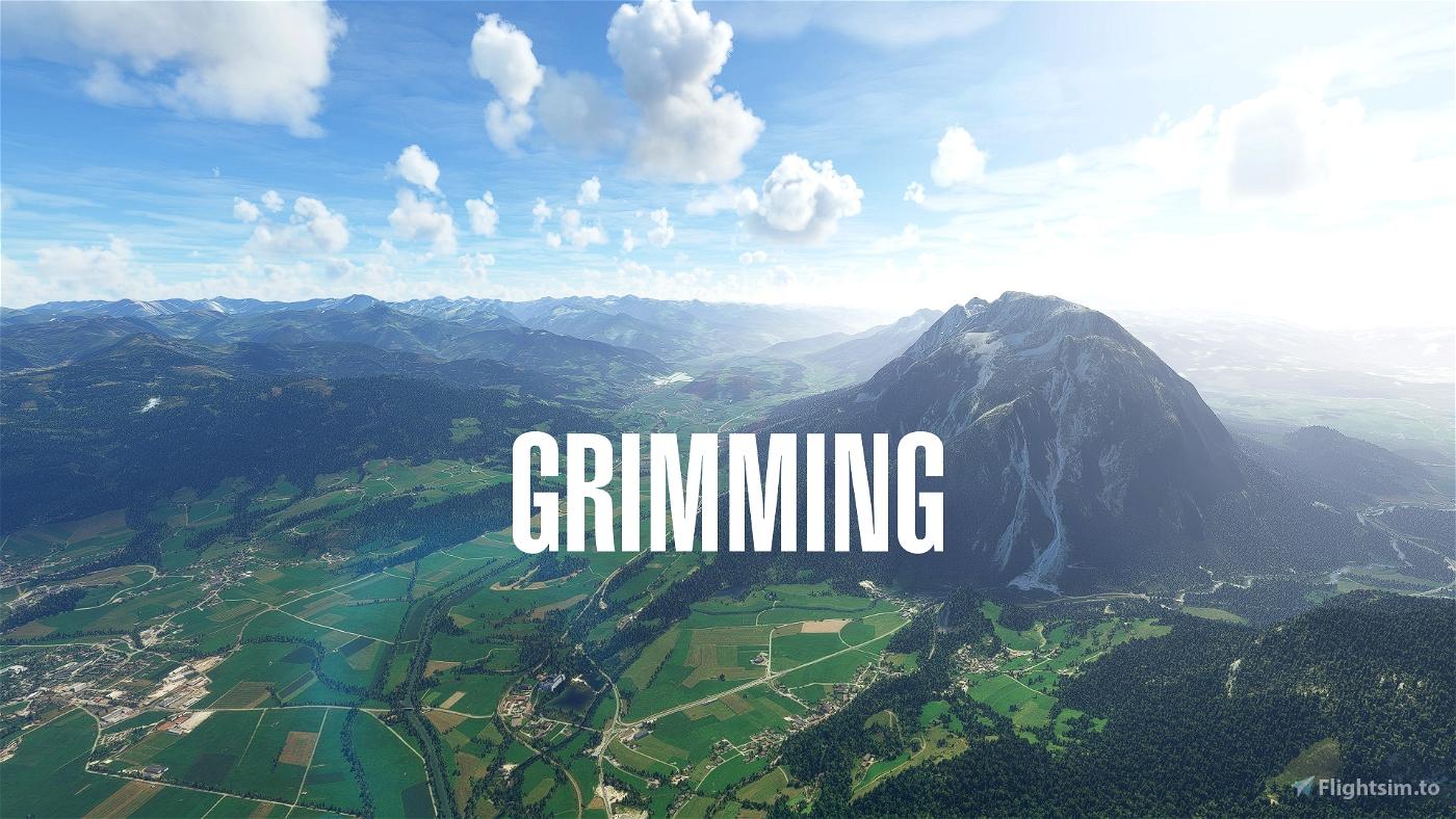 Better Aerial for Grimming near LOGO Niederöblarn, Styria, Austria Flight Simulator 2020