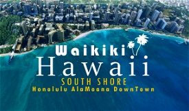 Waikiki, HAWAII Image Flight Simulator 2020