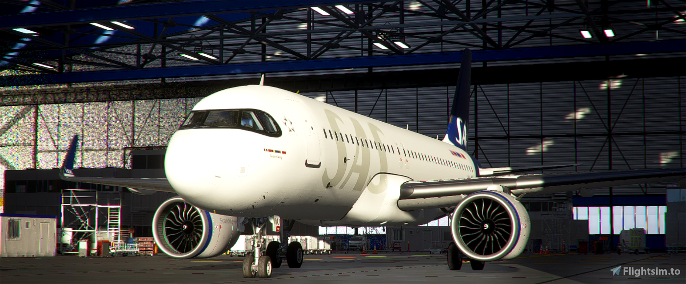 [A32NX] | [8K] SAS Scandinavian Airlines New Livery (SE-ROJ) Very Detailed Clean/Dirty Version