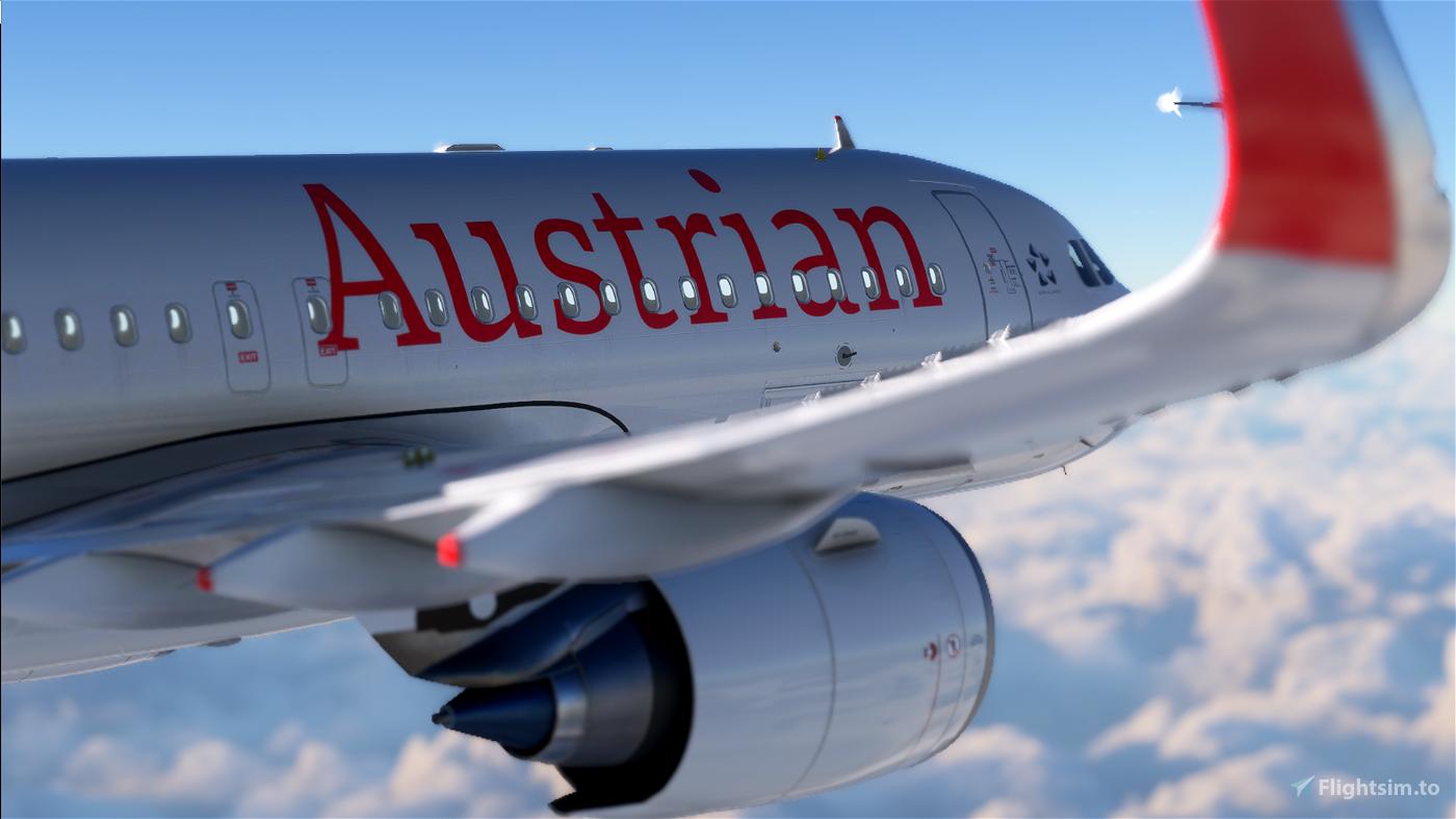 [A32NX] Austrian Airlines (AUA) OE-LBU [8K-Ultra Details] 2021 Dirty/Clean Flight Simulator 2020