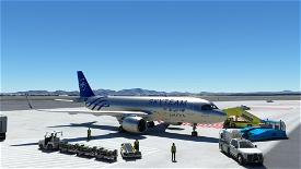 [A32NX] FlyByWireA320neo Saudia Skyteam silver livery 8K Image Flight Simulator 2020