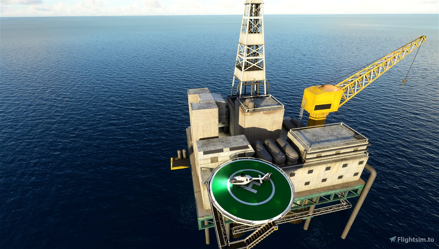 North Europe oil/gas offshore installations - Landable!