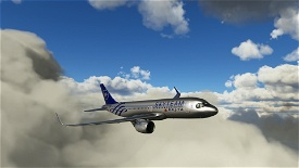[A32NX] FlyByWireA320neo Delta Airlines Skyteam silver livery 8K Image Flight Simulator 2020