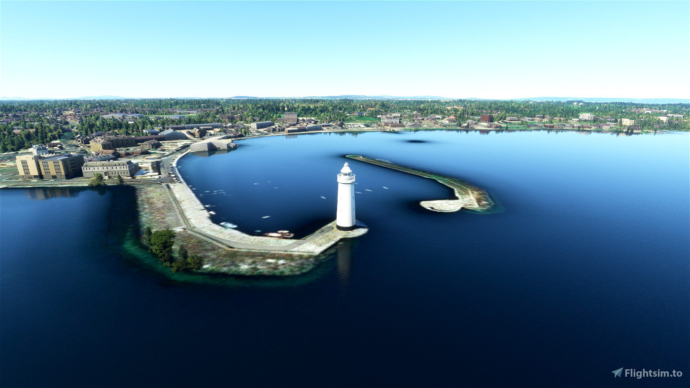 Donaghadee Lighthouse and The Moat