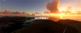 NORWAY 20m DEM Part 2 - High Resolution Terrain Elevation Data from LIDAR Imaging Microsoft Flight Simulator