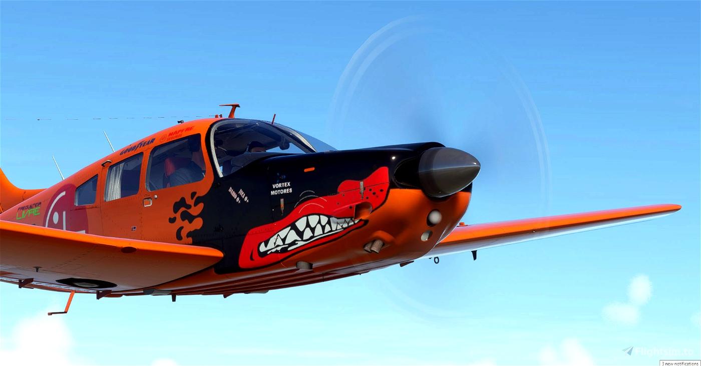 "JustFlight PA28R Arrow III - Embraer EMB-711 Corisco - PT-NOC ""Perdigueiro"""