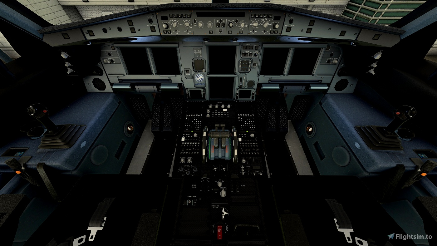 A330-300_ New Carbon Cockpit_BlackSeatFloor