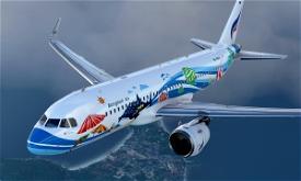A320 Bangkok Airlines HS-PGW Samui Livery 8K - Asobo version Microsoft Flight Simulator